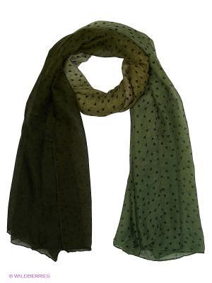 Палантин FOMAS. Цвет: темно-зеленый, зеленый