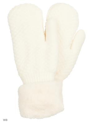 Варежки UFUS. Цвет: белый