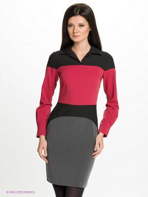 Платье Satin. Цвет: серый, малиновый, черный
