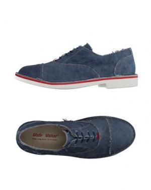 Обувь на шнурках WALLY WALKER. Цвет: пастельно-синий