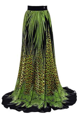 Юбка Just Cavalli. Цвет: зеленый