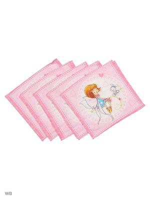 Набор платков носовых детских Римейн. Цвет: розовый