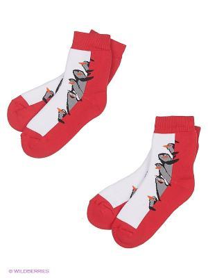 Носки, 2 шт Хох. Цвет: красный
