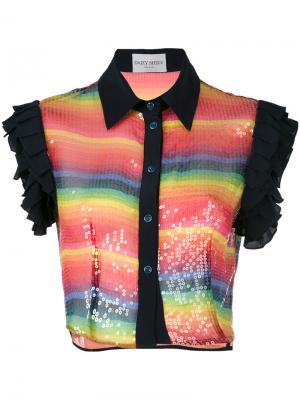 Укороченная рубашка с пайетками Daizy Shely. Цвет: многоцветный