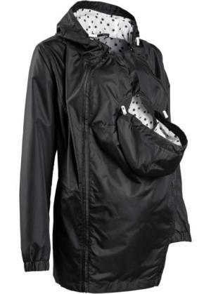 Мода для беременных: куртка на межсезонье со вставкой малыша (черный) bonprix. Цвет: черный