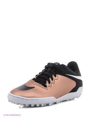 Шиповки JR HYPERVENOMX PRO TF Nike. Цвет: черный, бронзовый