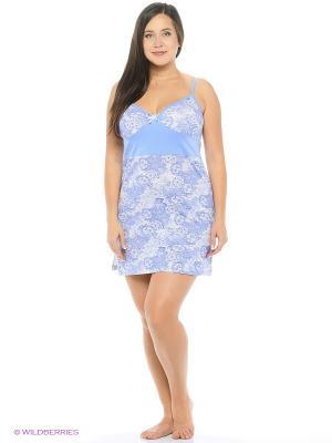 Ночная сорочка Pastilla. Цвет: белый, голубой