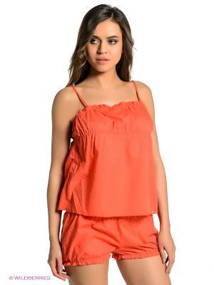 Пижама Oodji. Цвет: оранжевый