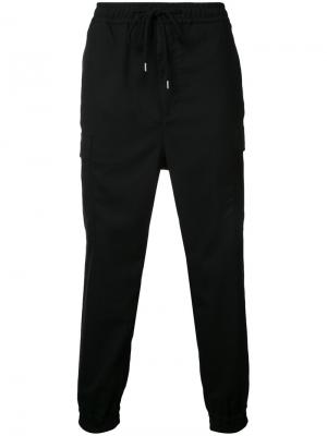 Спортивные брюки карго monkey time. Цвет: чёрный