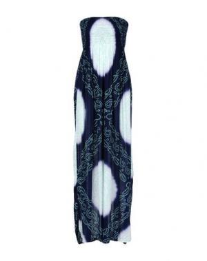 Длинное платье COOLCHANGE. Цвет: темно-синий