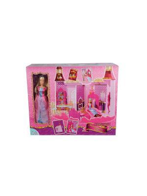 Штеффи и ее замок, 29 см., 67 1/4 Simba. Цвет: розовый