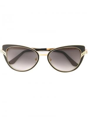Солнцезащитные очки Panthère Divine Cartier. Цвет: чёрный