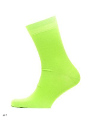 Носки хипстерские (2 пары) HOSIERY. Цвет: салатовый