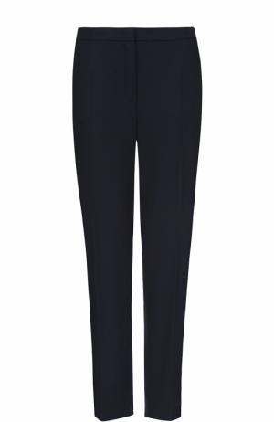 Шерстяные брюки прямого кроя Escada. Цвет: темно-синий