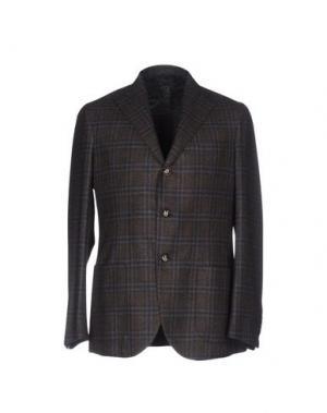 Пиджак BARBA Napoli. Цвет: стальной серый