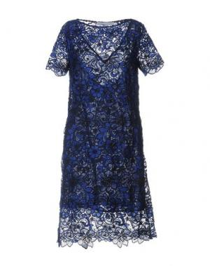 Платье до колена LA FABBRICA del LINO. Цвет: ярко-синий