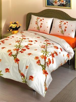 Комплект постельного белья ALTINBASAK. Цвет: оранжевый, белый