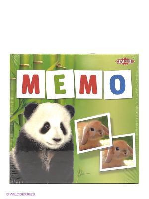 Настольная игра Мемо Зверята 2 Tactic Games. Цвет: зеленый