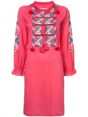 Платье Lou Figue. Цвет: розовый и фиолетовый