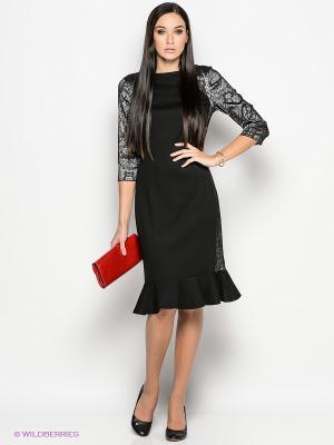 Платье Valeria Lux. Цвет: черный, серый