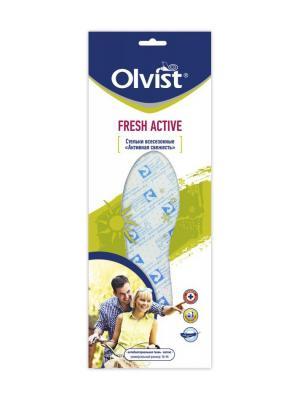 Всесезонные стельки Активная Свежесть Olvist. Цвет: серо-голубой