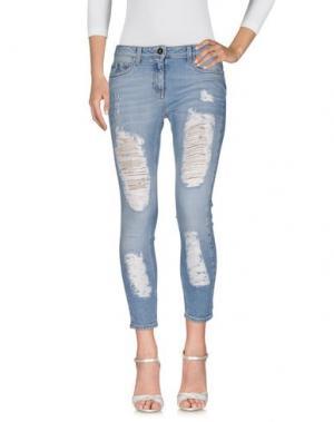 Джинсовые брюки ELISABETTA FRANCHI JEANS. Цвет: синий
