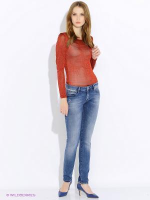 Блузка- боди Befree. Цвет: красный