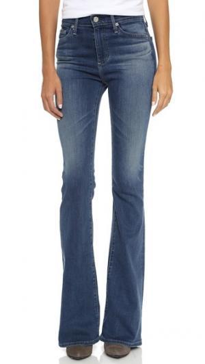 Расклешенные джинсы Janis AG. Цвет: гавань с эффектом поношенности