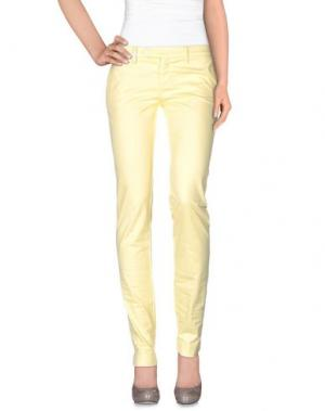 Повседневные брюки PAOLA FRANI. Цвет: желтый
