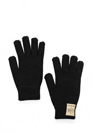 Перчатки Reebok Classics. Цвет: черный
