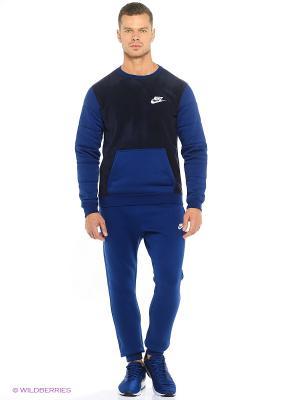Брюки M NSW JGGR CLUB FLC Nike. Цвет: темно-синий, белый