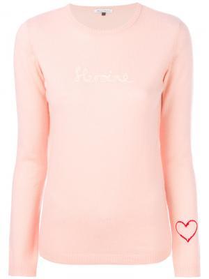 Джемпер вязки интарсия Bella Freud. Цвет: розовый и фиолетовый