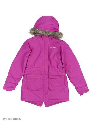 Куртки Columbia. Цвет: сиреневый