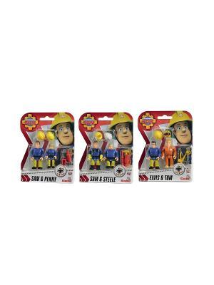 Пожарный Сэм, Фигурки, 7,5см, 3в, 24/96 Simba. Цвет: синий, желтый, красный