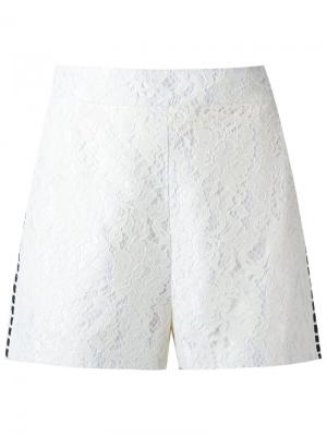 Кружевные шорты Martha Medeiros. Цвет: белый