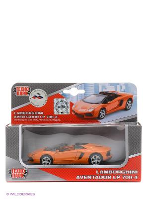 Машина Технопарк металлическая инерционная lamborghini aventador. Цвет: оранжевый