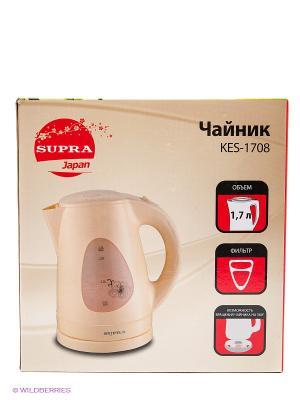 Чайник  KES-1708, 1.7л, 2200Вт Supra. Цвет: бежевый