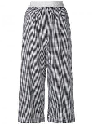 Укороченные брюки в клетку  IM Isola Marras I'M. Цвет: чёрный