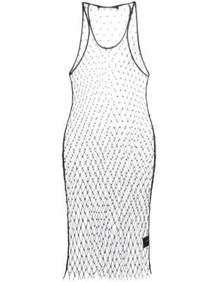 Платье-сетка Filles A Papa. Цвет: чёрный