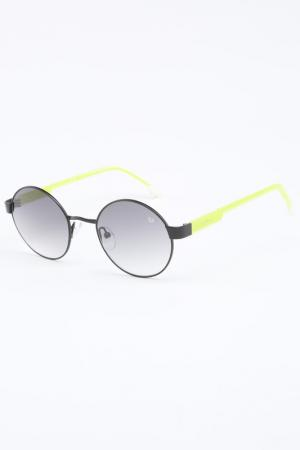 Очки солнцезащитные Byblos. Цвет: черный, салатовый