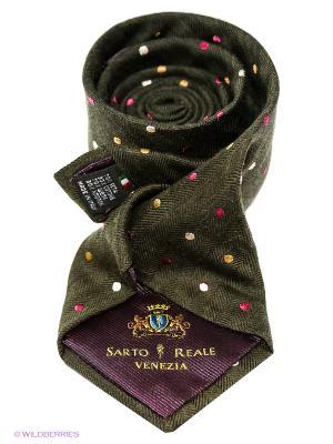 Галстук Sarto Reale. Цвет: серо-зеленый, розовый, желтый