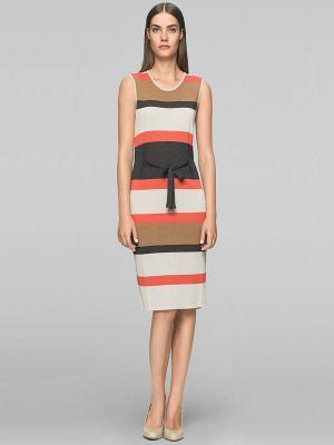 Платье Elegance. Цвет: серый, бежевый, коралловый