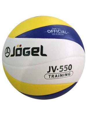 Мяч волейбольный Jogel JV-550. Цвет: синий, желтый