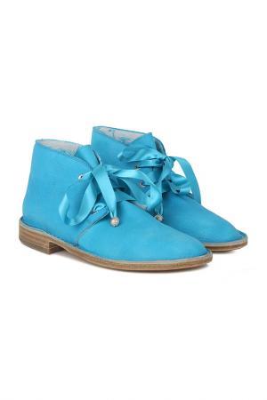 Ботинки GIEMME. Цвет: голубой