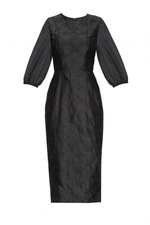 Платье из шелка 170705 Villa Turgenev. Цвет: черный