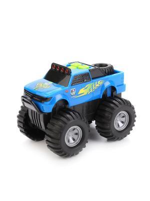 Машина  на батарейках свет+звук . TOYSTATE. Цвет: желтый