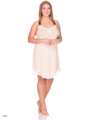 Ночная сорочка Startale. Цвет: бежевый, белый
