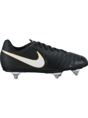 Бутсы JR TIEMPO RIO IV SG Nike. Цвет: черный, белый