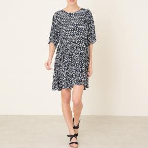 Платье с рисунком LIAM BA&SH. Цвет: синий