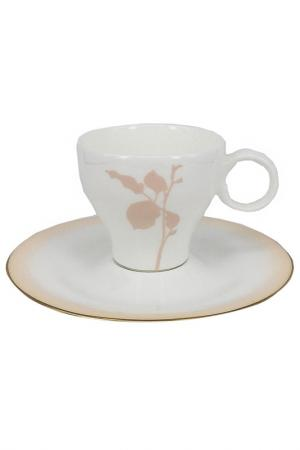 Набор чайных пар Шёлк6 шт. Tognana. Цвет: белый
